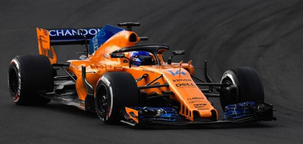 Avería y tiempazo de Alonso como broche a la pretemporada