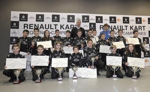Palencia, con Fernando Alonso en los premios Renault Kart Pequeños Campeones