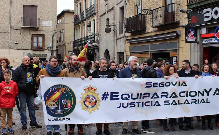 Policías y guardias civiles reclaman equiparación salarial