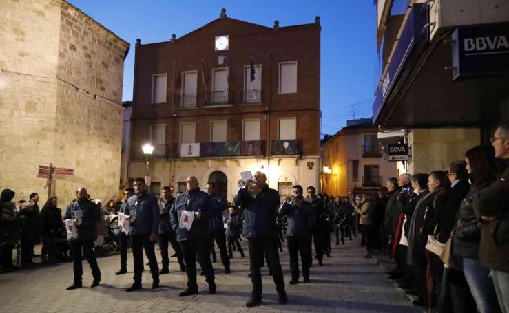 Desfile bandas Semana Santa en Peñafiel
