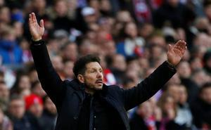 Simeone: «Mi deseo es llegar con opciones a las últimas cinco jornadas»