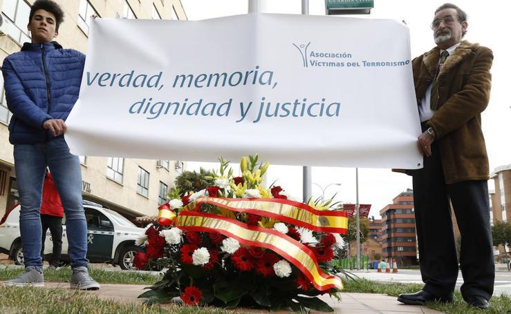 Homenaje a las víctimas del terrorismo en Palencia