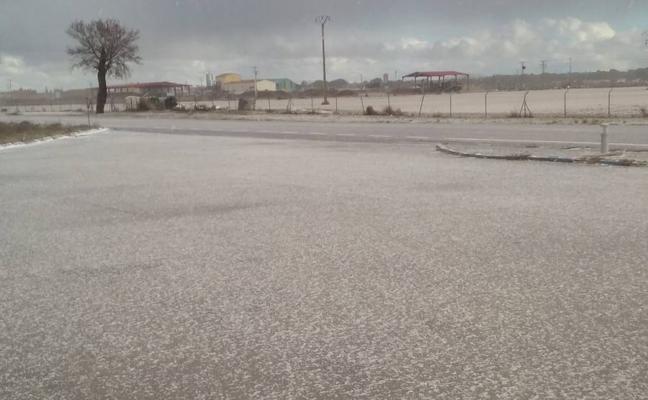 'Gisele' deja granizo en Valladolid