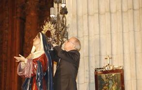 La Virgen del Perdón engrandece la Semana Santa de Palencia