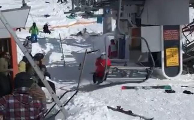 Un telesilla estropeado deja varios heridos en Georgia