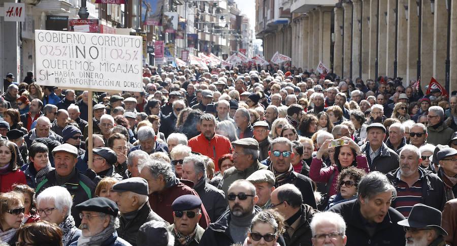 Palencia sale a la calle por las pensiones