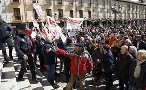5.000 palentinos se manifiestan en la capital «por unas pensiones dignas»