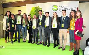 Rodrigo Mediavilla, reelegido presidente de Nuevas Generaciones de Palencia
