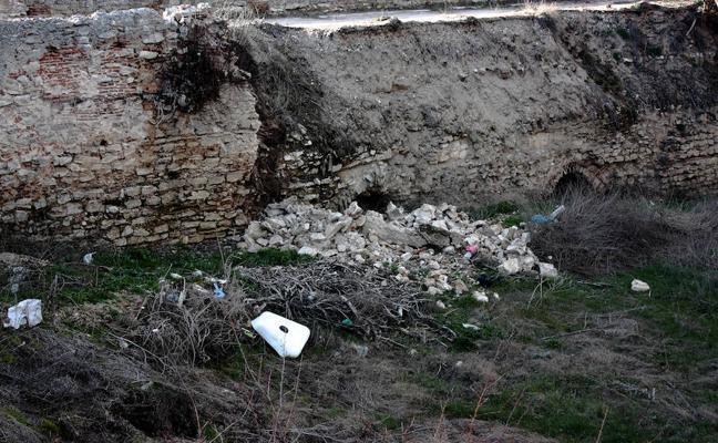 Las lluvias provocan derrumbes en puente mudéjar de Arévalo