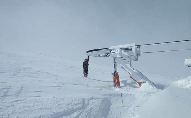 La nieve entierra Béjar-La Covatilla