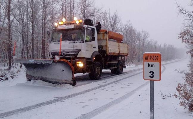 Treinta carreteras afectadas por la nieve en la provincia de Ávila
