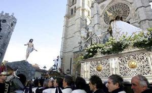 Programa de procesiones del Domingo de Resurrección, 1 de abril, en León