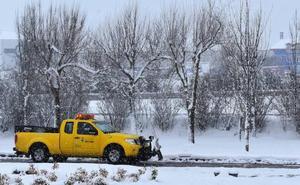 La nieve dificulta la circulación de Palencia a Cantabria