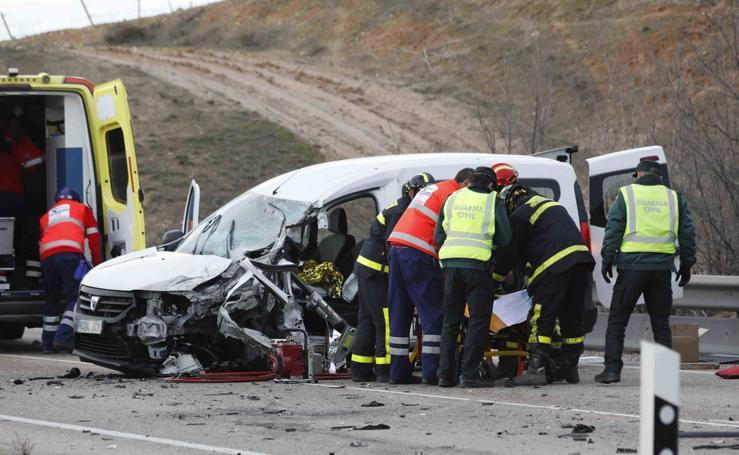 Accidente entre Peñafiel y Padilla de Duero