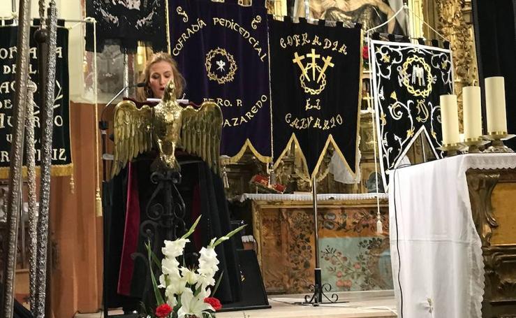 Pregón de Semana Santa en Medina del Campo a cargo de Rocío Mozo