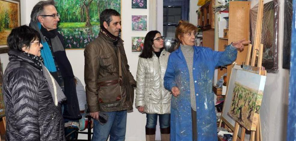 De ruta por los estudios de cinco pintores de Valladolid
