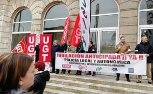 Los policías locales de Palencia reclaman la jubilación anticipada