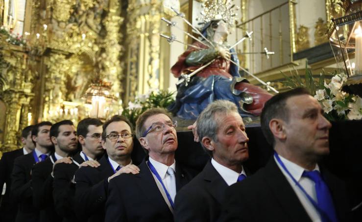 Procesión del Vía Matris que organiza la Cofradía de la Vera Cruz de Salamanca