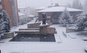 La nieve condiciona la circulación o corta numerosas carreteras en la zona norte de Palencia