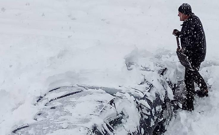 Guardo recibe la primavera con medio metro de nieve