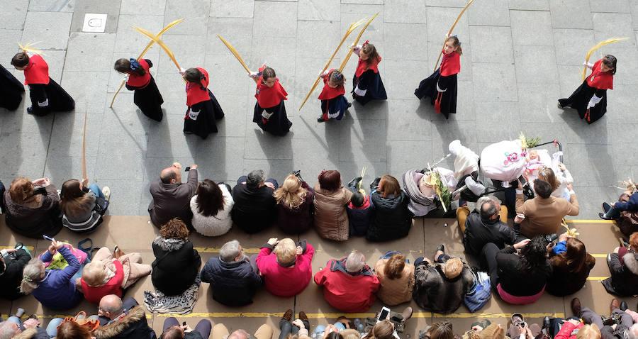 Procesión de 'La borriquilla' en Valladolid