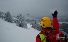 Rescatado un montañero arrastrado por un desprendimiento de nieve en el pico San Millán