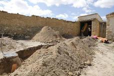 Investigan el hallazgo de restos humanos en un patio de Hontoria