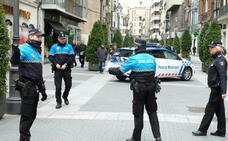 El nivel de alerta cuatro marca la presencia policial esta semana en Valladolid