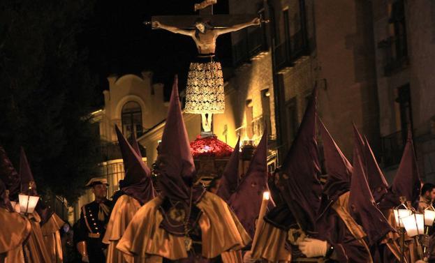 El Santo Cristo de la Cruz, ayer. /Tanarro