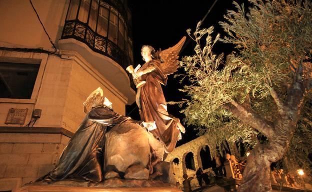 La Oración en el Huerto, por la calle de Cervantes. /Tanarro