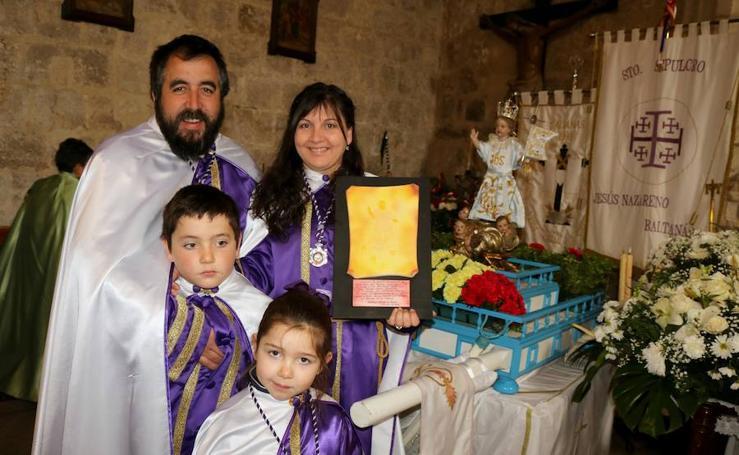 Los niños, protagonistas de la despedida de la Semana Santa en Baltanás