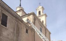 Las lluvias causan desprendimientos en la iglesia de San Miguel y el Santuario