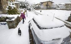La nieve sorprende a la provincia de Salamanca