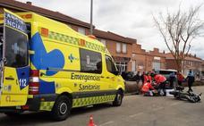 Heridos los dos ocupantes de una moto al chocar con una furgoneta en Aguilar
