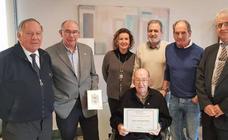 Reconocimiento de ingenierosVA a Pedro Parellada Bellod, el colegiado más veterano