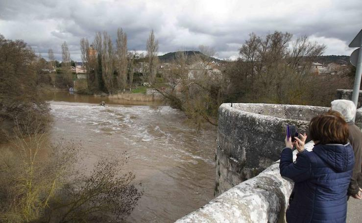 Crecida en los ríos en Valladolid