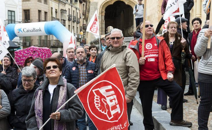 Concentración de pensionistas en Segovia