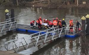 Rescatada una mujer en el río Pisuerga agarrada a un tronco