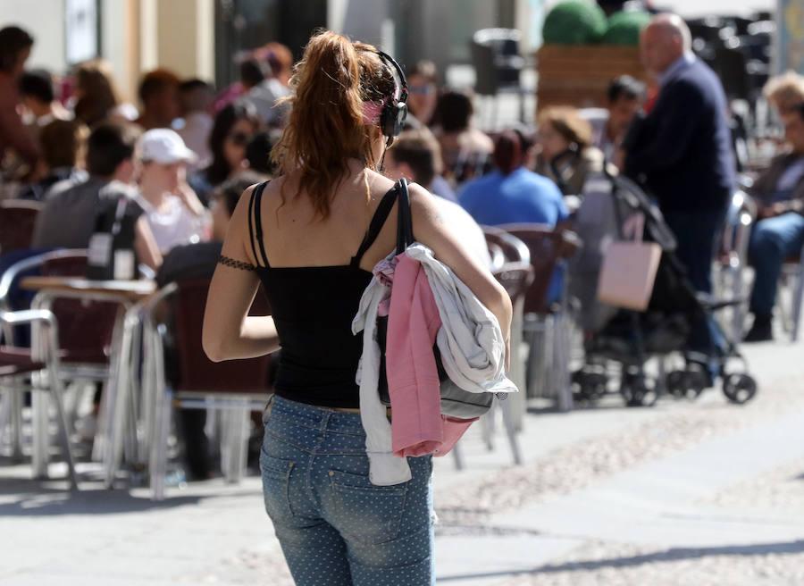 El buen tiempo llega, por fin, a Segovia