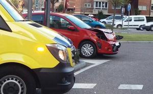 Un herido en un accidente de tráfico en la avenida de Salamanca