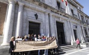 Los letrados de la Administración de Justicia de Valladolid se concentran para demandar mejoras laborales y salariales