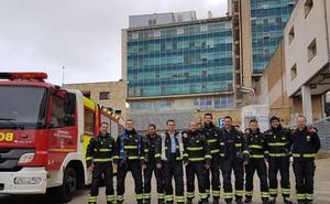 Los bomberos evalúan la protección contra incendios y evacuación del Clínico y del Virgen de la Vega