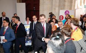El Rey Felipe VI y el presidente de la República de Portugal visitan la Universidad de Salamanca