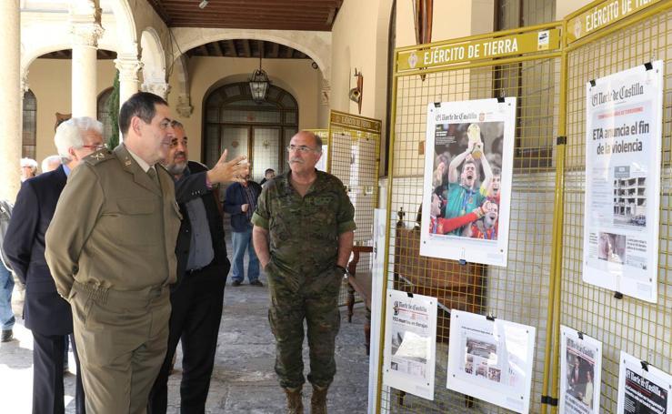 Exposición 'Portadas de El Norte de Castilla' en el Palacio Real de Valladolid