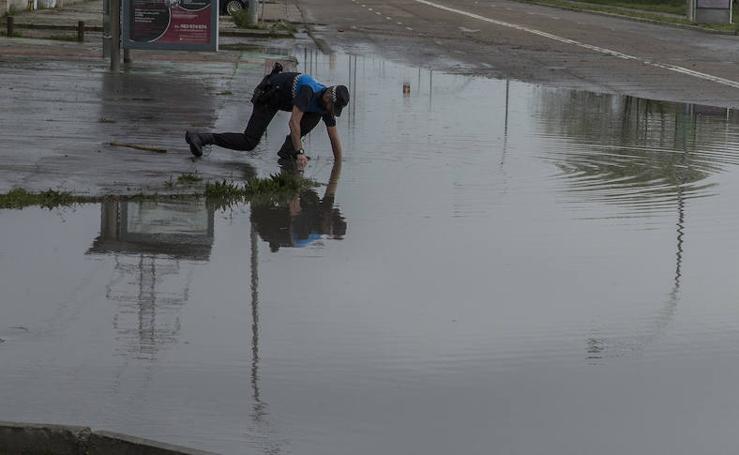 La tormenta causa inundaciones en Valladolid