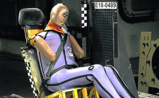 Imagen del World SID extraída de un vídeo de Cidaut en una prueba de impacto fronta./Fundación Cidaut.
