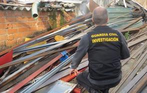 Investigados siete vecinos de Palencia por el robo de 28.000 kilos de chatarra