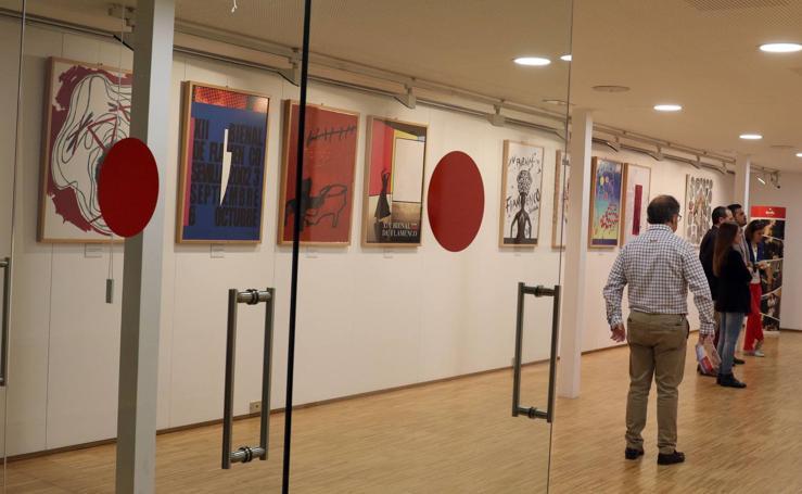 Exposición de carteles de los 40 años de la Bienal de Flamenco de Sevilla