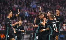 Sufrido empate del Madrid al descanso
