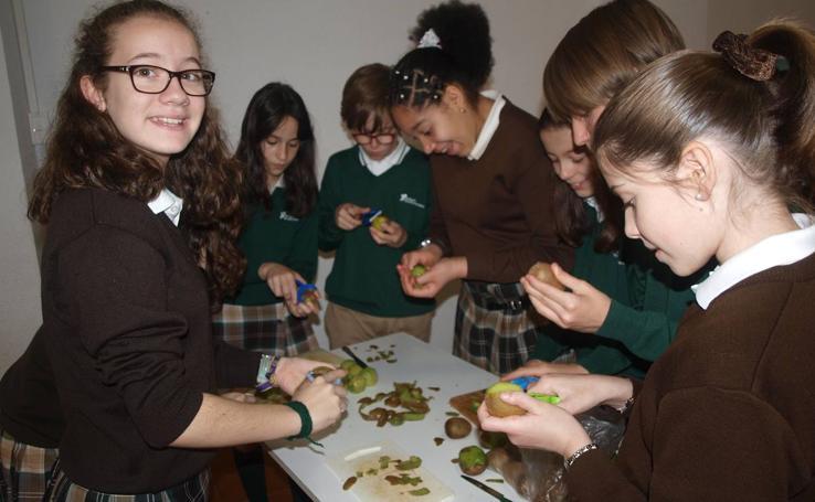 Alumnos del colegio Santa Teresa de Jesús participan en una actividad para fomentar los hábitos saludables